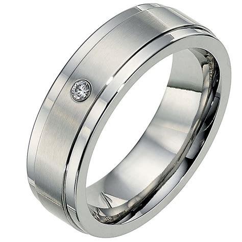 cobalt mm diamond matt polished wedding ring ernest jones