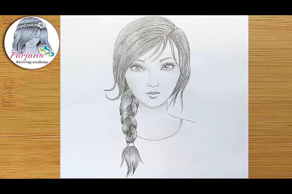Cool Beginner Girl Face Drawing Easy