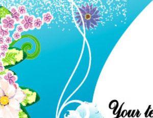 Blue Flowers Swirly Vector Art Background Free Vectors Ui Download