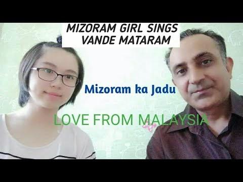 Mizoram little girl sings vande mataram song reaction by love from Malaysia