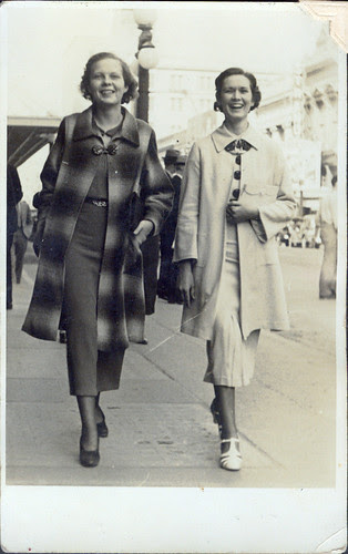 Two women sidewalk
