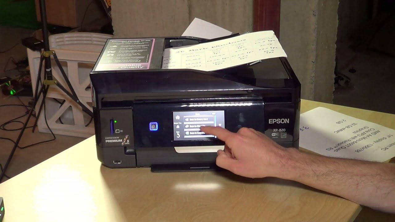 Epson Expression Premium XP-820 Wireless Photo Printer Review - Scanning & DVD / CD Printing ...