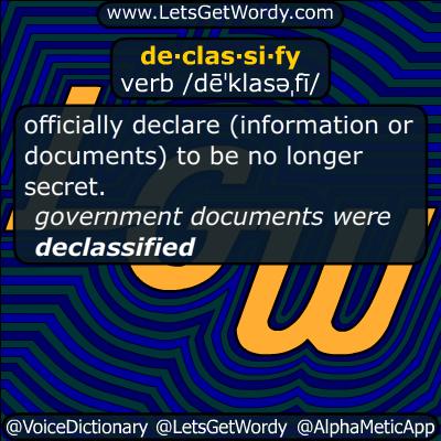 declassify 04/12/2016 GFX Definition