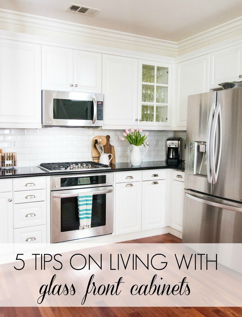 5 Tips on Living with Glass Cabinets - A Thoughtful Place