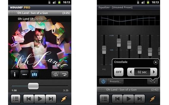 Winamp Los mejores reproductores de música para Android
