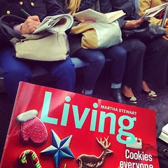 This commute just got a lot merrier thanks to @marthastewart #shetakesthemorningtrain