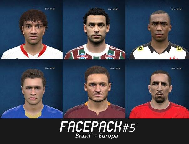 Facepack #5 Europa e Brasil