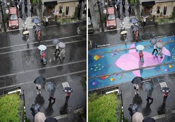 Απίστευτο: όταν βρέχει οι δρόμοι γεμίζουν χρώμα και... ζωή