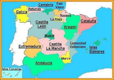 Mapa Provincias España Interactivo.Mapa Interactivo Comunidades Autonomas Espana Mapa