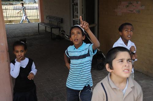 Children in Town Under Fire by Rockets from Gaza