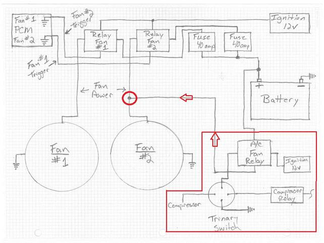 Trinary Switch Wiring Diagram With Two Electric Fan