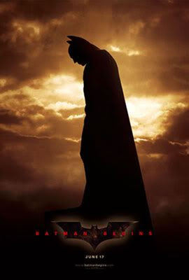 Batman Begins domestic teaser poster