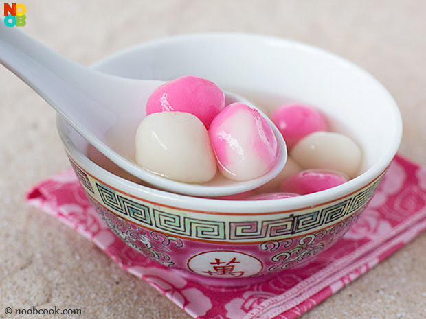 Tang Yuan (Glutinous Rice Balls) Recipe | NoobCook.com