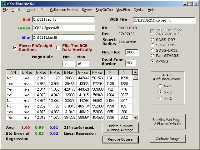 BF-Astro Freeware - eXcalibrator
