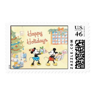 Minnie and Mickey Happy Holidays Stamps