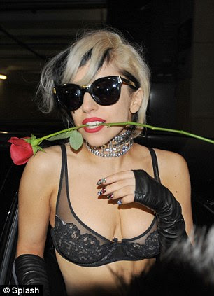 Triumphant performance: Gaga greets fans as she leaves the Saturday Night Live studios following her appearance alongside Justin Timberlake
