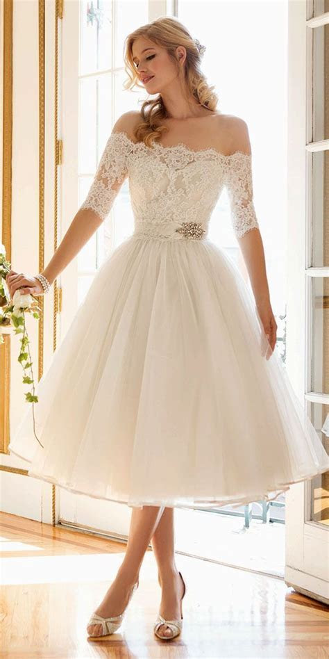 24 Gorgeous Tea Length Wedding Dresses   Lovely Little