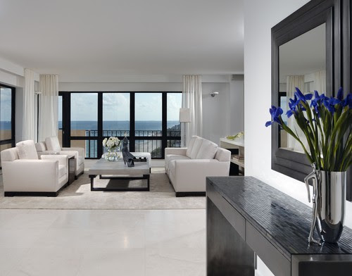 Lauderdale By the Sea Condo modern living room