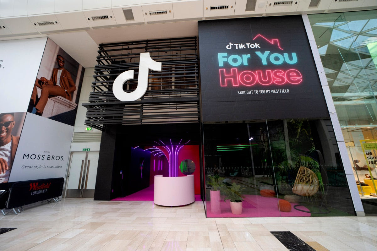 TikTok pop-up 'house' opens at Westfield London for video app fans