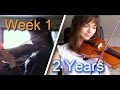 Girl Masters The Violin In Two Years Compilation - Video