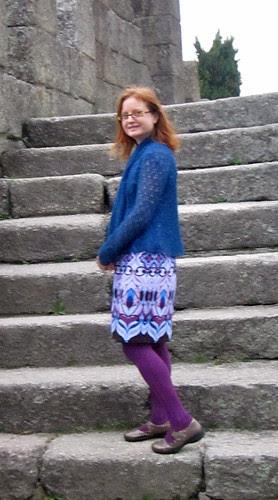 Blue Wool Cardi Side