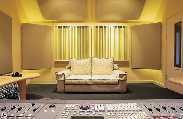 Diffusers, as pictured at the rear of this studio, come in many shapes and sizes but they're only really useful in larger rooms — roughly the size of a  double-garage conversion or bigger. In typical domestic spaces they're usually too near to the listening position to have a  positive effect, and can even cause problems.