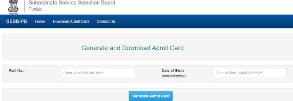 PSSSB admit card 2021 for AS, WO, and PO released, download here