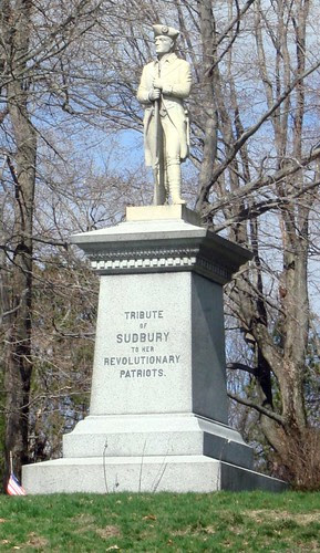 Revolutionary War Monument in Sudbury by midgefrazel