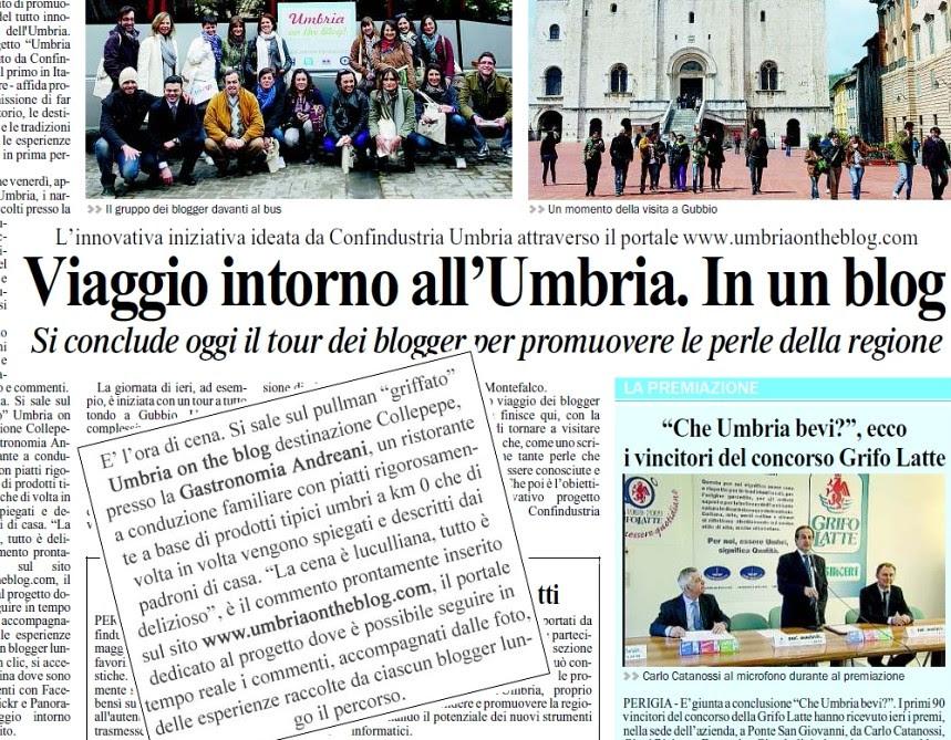 Umbria on the blog - Il Giornale dell'Umbria