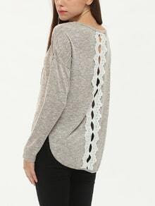 Apricot Long Sleeve High Low T-Shirt