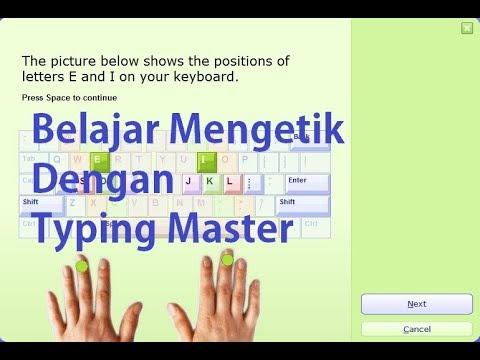 Mengetik 10 Jari Dengan Typing Master