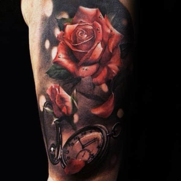 90 Realistic Rose Tattoo Designs For Men Floral Ink Ideas