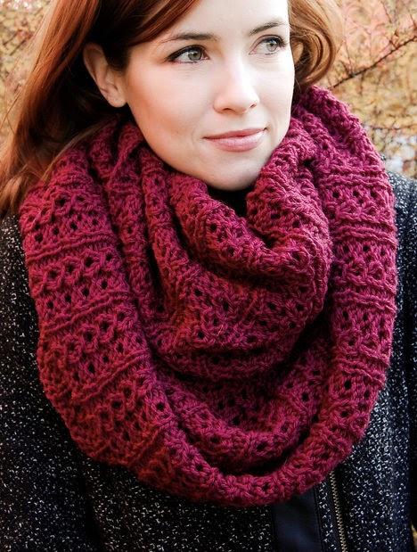 Easy Infinity Scarf Knitting Pattern Straight Needles