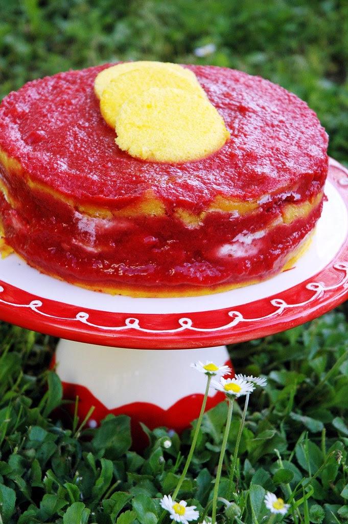torta fragole e formaggio
