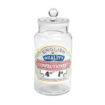 Retro Glass Sweet Jar