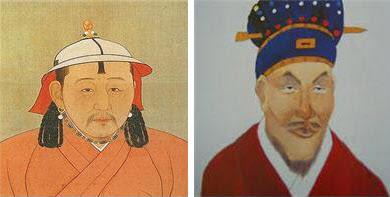 부왕 부인과 결혼한 충선왕(왼쪽), 부왕 여인들을 강간한 충혜왕.