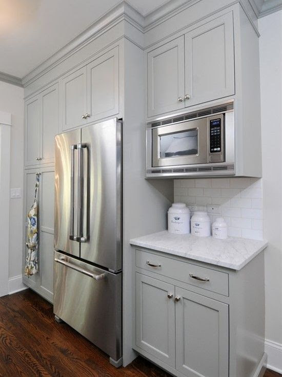 Gray Green Kitchen Cabinets   Home Sweet Home   Pinterest