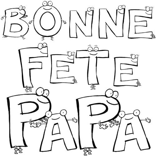 Coloriage Fête Des Papas