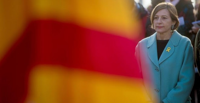 La presidenta de la Diputación Permanente del Parlament, Carme Forcadell, participa en el homenaje al expresidente catalán Francesc Macià.- Quique García (EFE)