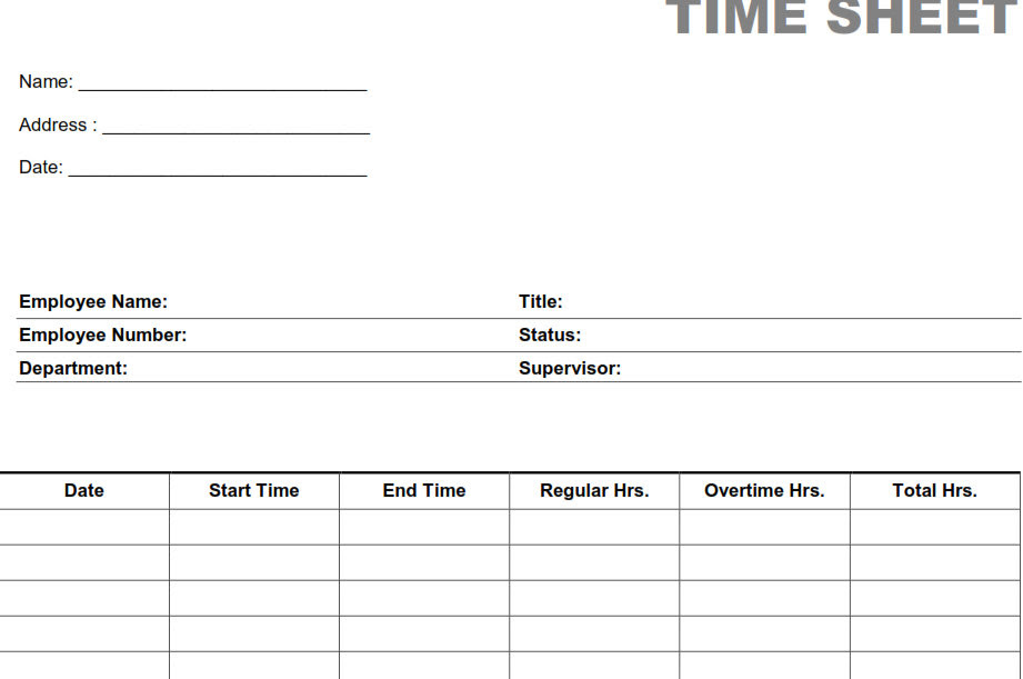 time sheets printable scalien