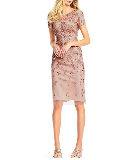 Adrianna Papell Beaded Sheath Dress #Dillards   Fashion