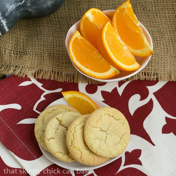 Orange Crinkles | Chewy orange cookies with a crackled top