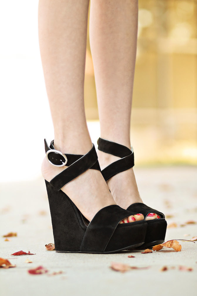 Dolce & Gabbana suede Wedges, Shoes, Fashion