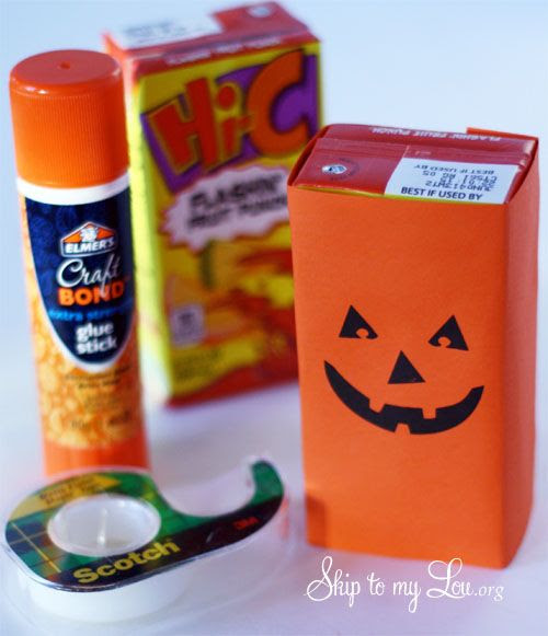 Halloween juice box covers party ideas
