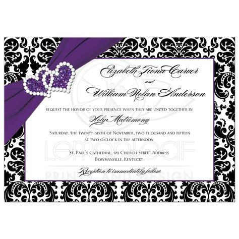 Wedding Invitation: Lovely Purple Wedding Invitations For