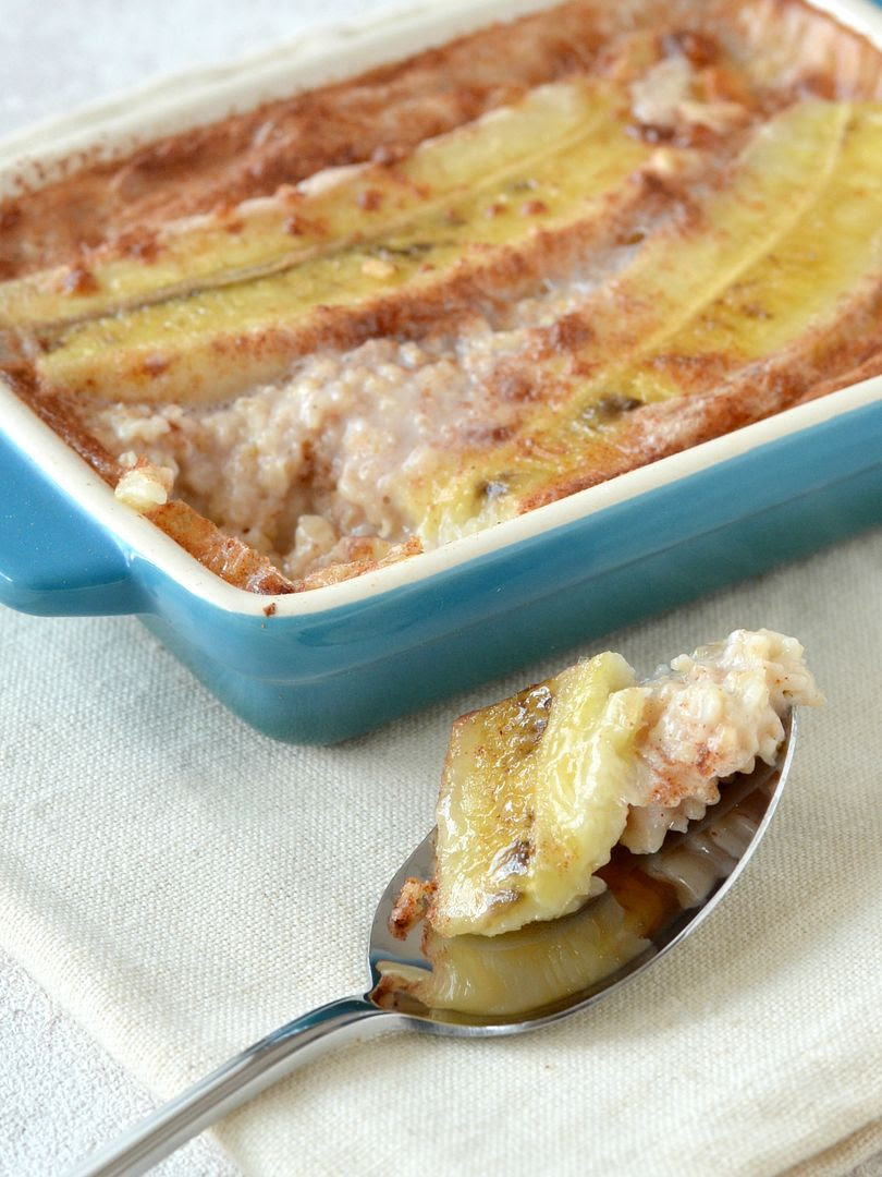 Baked Banana & Cinnamon Porridge