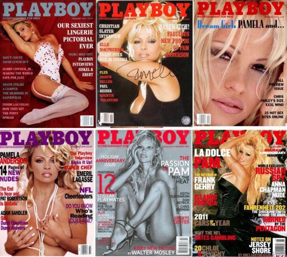 Pamela Anderson ha sido una de las más asiduas en las portadas de Playboy