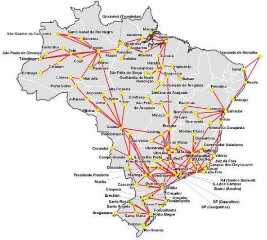 Resultado de imagem para malha viária do brasil