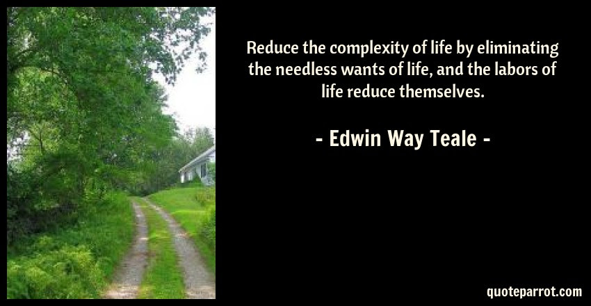 Reduce The Complexity Of Life By Eliminating The Needle By Edwin
