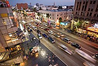 Hollywood, a well-known district of Los Angele...